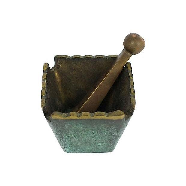 Mid Century Modern Brass Mortar & Pestle - Image 3 of 5