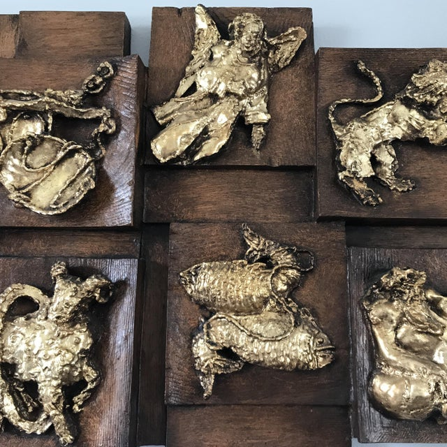 Finesse Originals Mid-Century Modern Finesse Originals Zodiac Relief For Sale - Image 4 of 6
