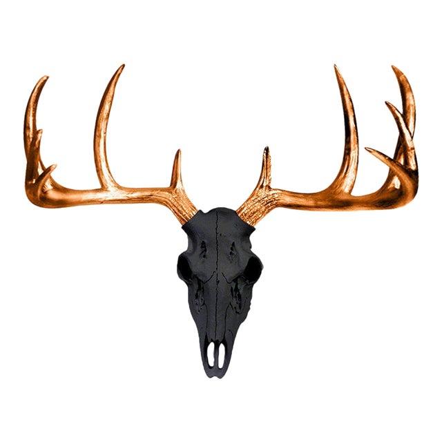 Wall Charmers Black & Metallic Bronze Antlers For Sale