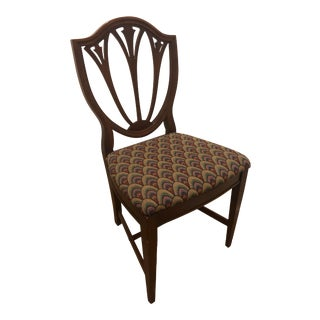 1960s Antique Cherry Shield Back Dining Chair For Sale