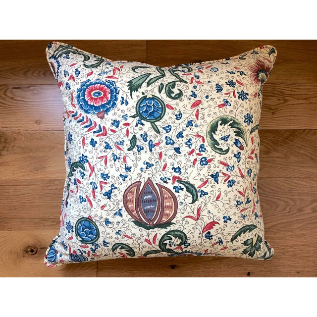 """Traditional Pierre Frey Braquenie """"Fleurs Enchantees"""" Feather Down Pillows - A Pair For Sale - Image 3 of 5"""