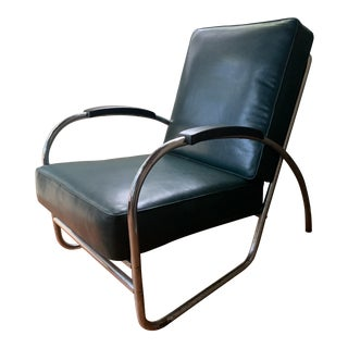 Mid 20th Century Chrome and Vinyl Chair by Royal For Sale