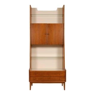 Kipp Stewart & Steward MacDougall Danish Modern Style Tall Cabinet For Sale