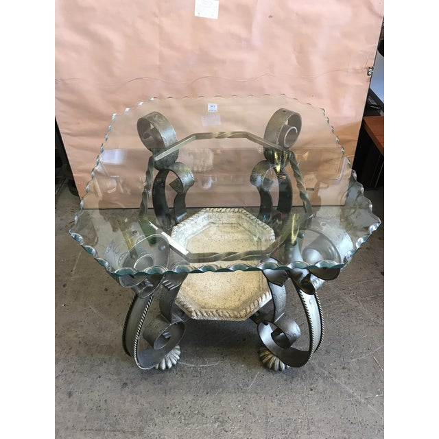 Wavy Edge Glass Side Table For Sale - Image 11 of 11
