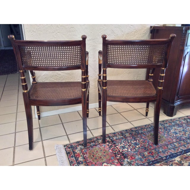 Vintage Baker Regency Accent Chairs - A Pair - Image 5 of 7