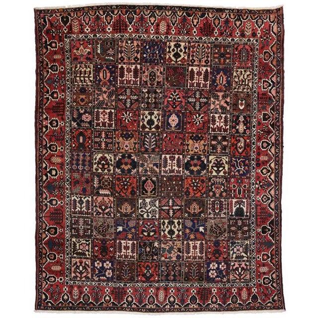 Antique Persian Bakhtiari Rug with Four Season Garden Design For Sale In Dallas - Image 6 of 8
