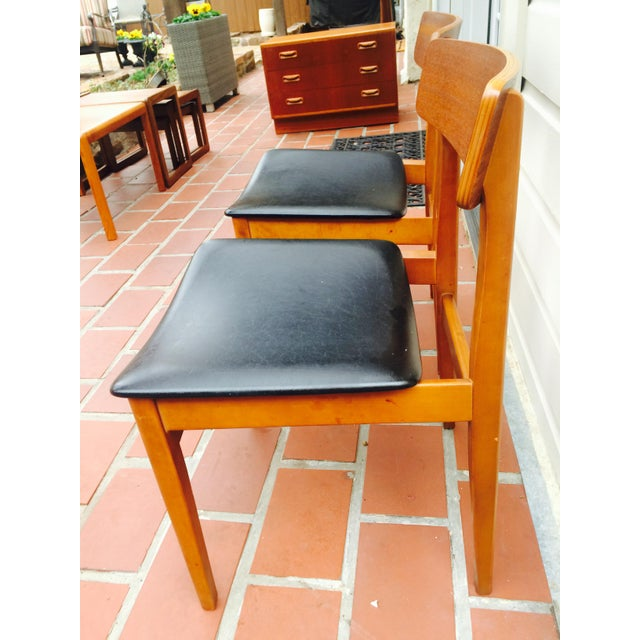 Mid-Century Modern Dining Chairs- A Pair - Image 4 of 6