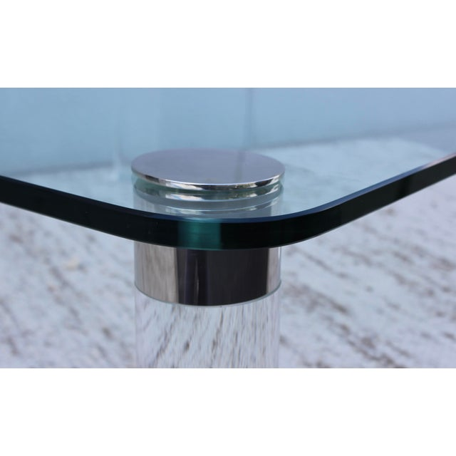 1970's Large Lucite Coffee Table For Sale - Image 11 of 11