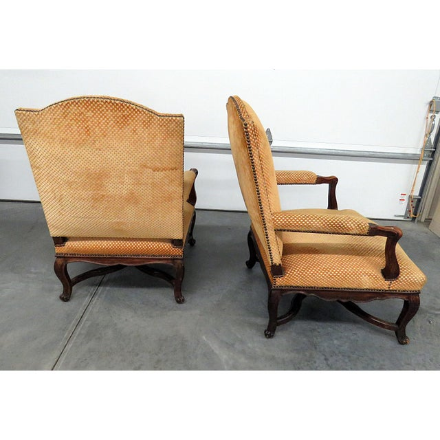 Pair of Country French Arm Chairs For Sale In Philadelphia - Image 6 of 8