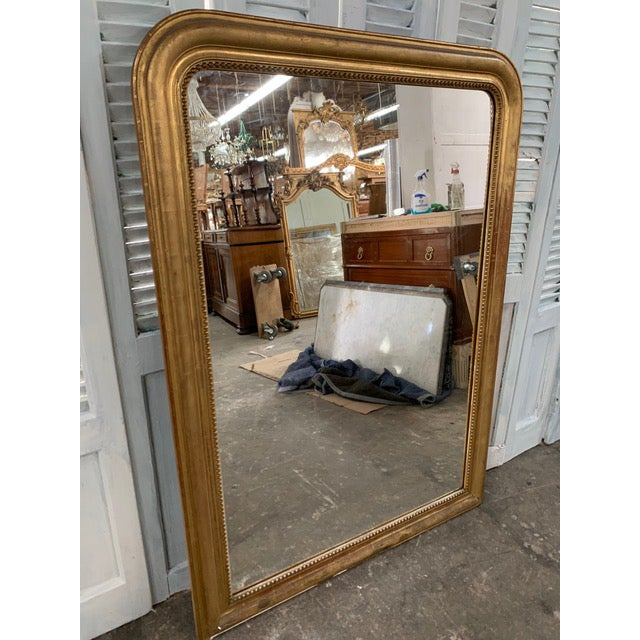 Glass 19th Century Grand Louis Philippe Mirror For Sale - Image 7 of 10