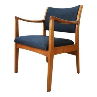 Vintage Mid Century Modern Walnut Arm Chair For Sale