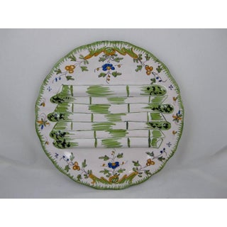Georges Cabaré French Faïence Martres Tolosane Hand-Painted Asparagus Plate Preview