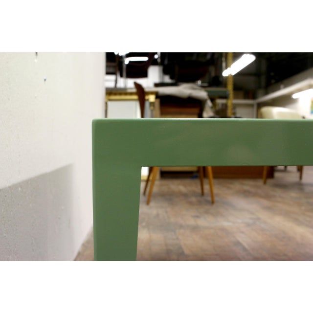 1950s Mint Green Mid-Century Powder Coated Steel Coffee Table For Sale - Image 10 of 13