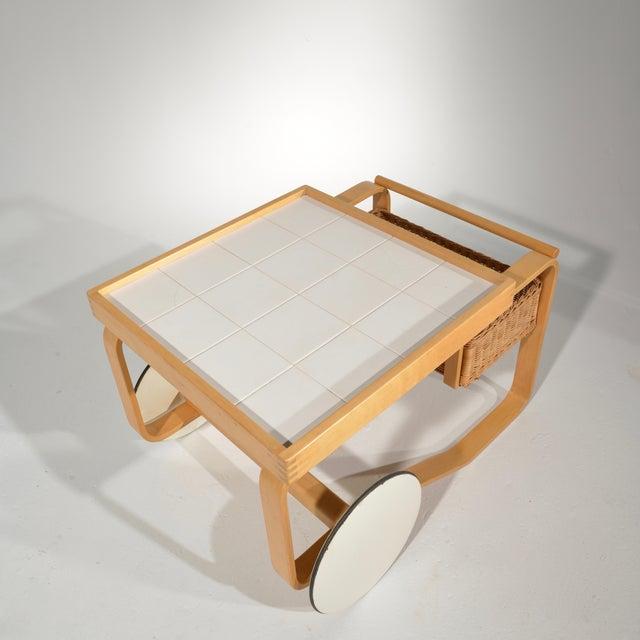 Wood Alvar Aalto for Artek Tea Cart Model 900 For Sale - Image 7 of 13