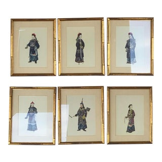 Set of 6 Chinoiserie Lithographs For Sale
