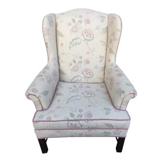 Late 20th Century Vintage Drexel Wingback Accent Chair For Sale