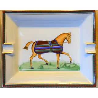 1970s Vintage Hermes Striped Equestrian Cigar Tray Preview
