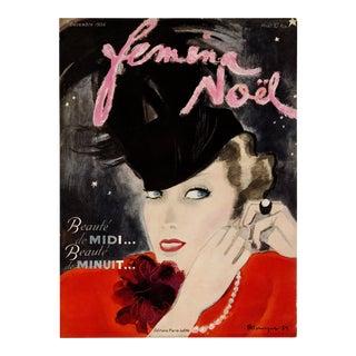 """Femina Noel, December 1935"" Original Vintage French Magazine Cover For Sale"