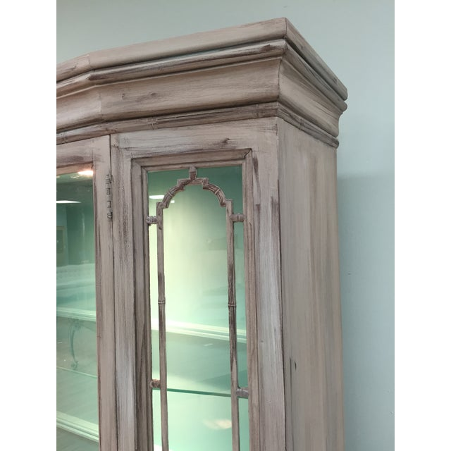 Gray Mid-Century China Cabinet Hutch - Image 6 of 11