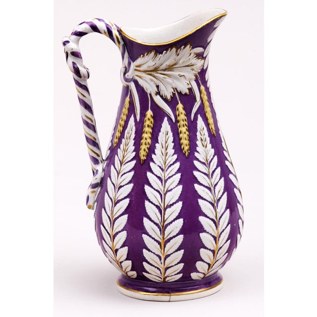 Victorian Brownfield Pottery Fuschia Jug, 1859 For Sale - Image 3 of 6