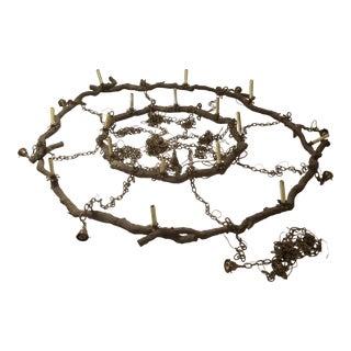 Bronze Rustic Twig Chandelier 2 Tier Mansion Last Markdown For Sale
