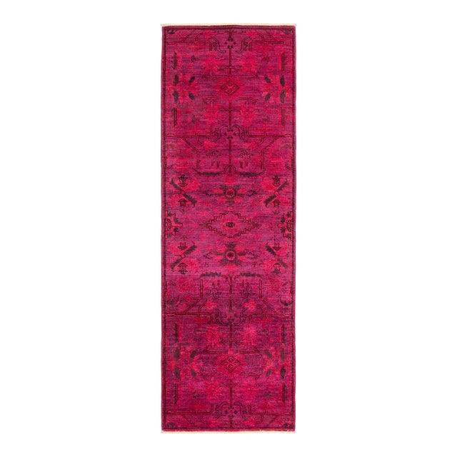 "Vibrance Hand Knotted Runner Rug - 2' 6"" x 7' 8"" - Image 1 of 4"
