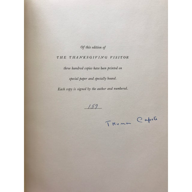"""Truman Capote """"The Thanksgiving Visitor"""" 1968 Book - Image 3 of 3"""