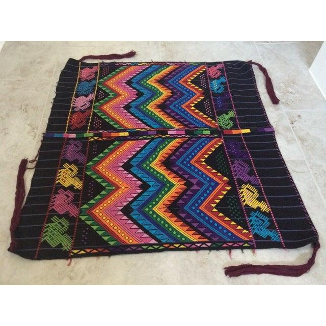 Boho Chic Vintage Guatemalan Textile For Sale - Image 3 of 7