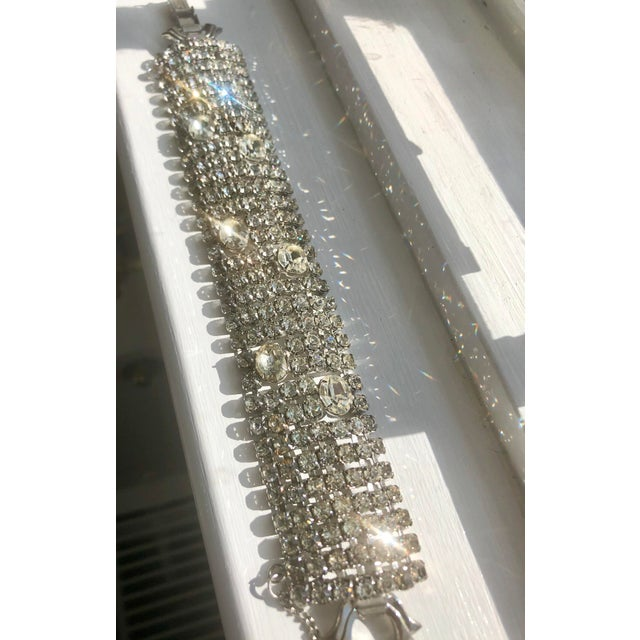 Silver Stunning Weiss Crystal Encrusted Bracelet For Sale - Image 8 of 12