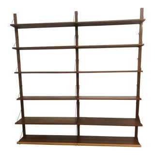 Mid Century Danish Wall Mounted Shelving For Sale