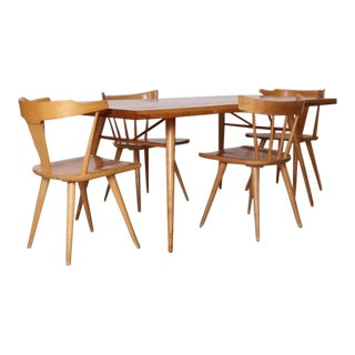Paul McCobb Dining Set Four Chairs and Table, Maple, 1950s, Winchendon