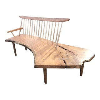 George Nakashima Style Conoid Bench For Sale
