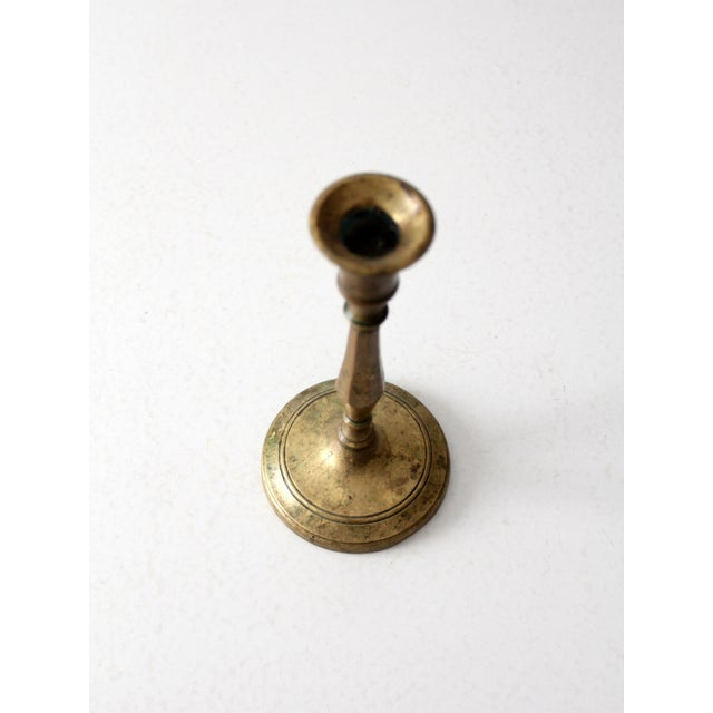 Antique Brass Candlestick Holder - Image 6 of 8