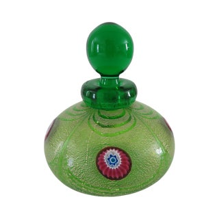 1980s Vintage Franco Moretti Murano Glass Perfume Bottle For Sale