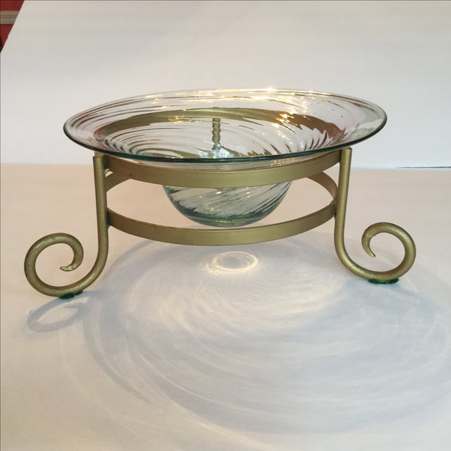 Art Glass Bowl For Sale - Image 7 of 11