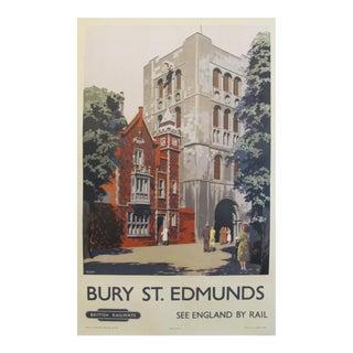 1950s Vintage British Travel Poster, Bury St. Edmonds
