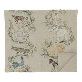 2010s French Ecru Linen Safari Table Runner For Sale