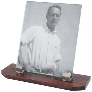 Art Deco Modernist Macassar Wood and Chrome Picture Photo Frame For Sale