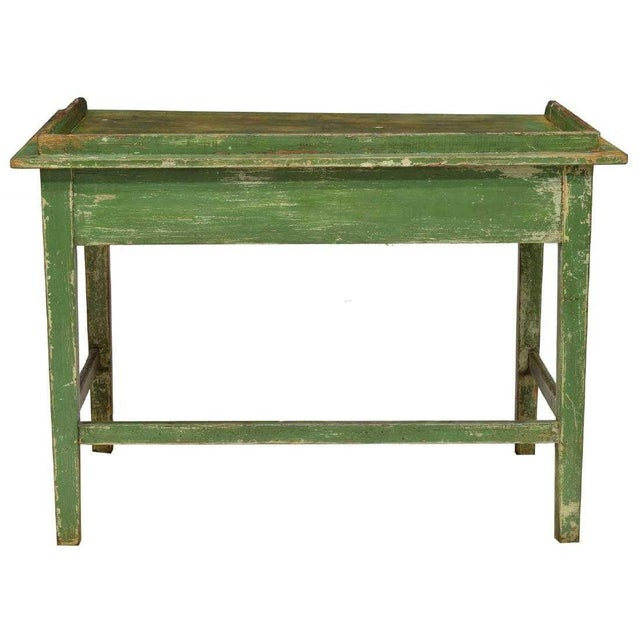 Rustic Scandinavian Painted Pine Work Table For Sale - Image 3 of 4