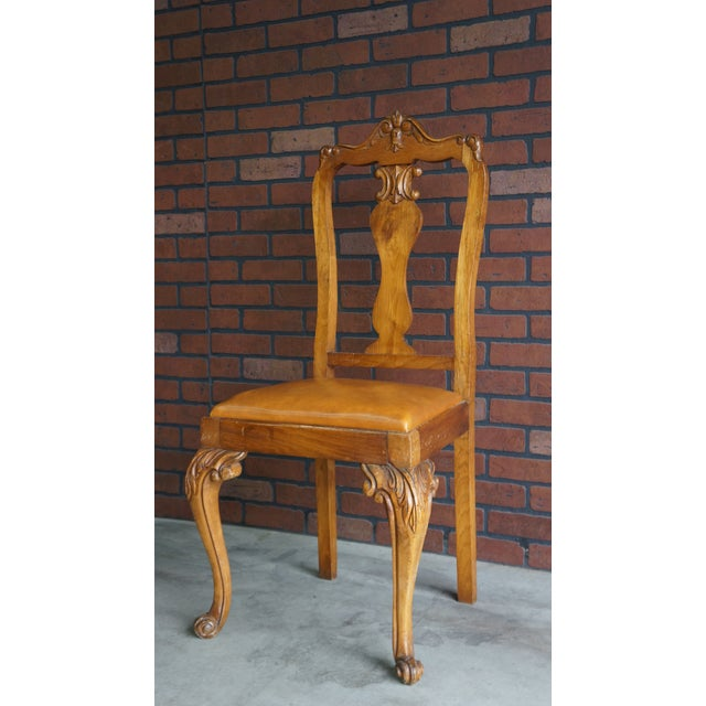 Early 20th Century Antique French Provincial Carved Chair For Sale - Image 9 of 10