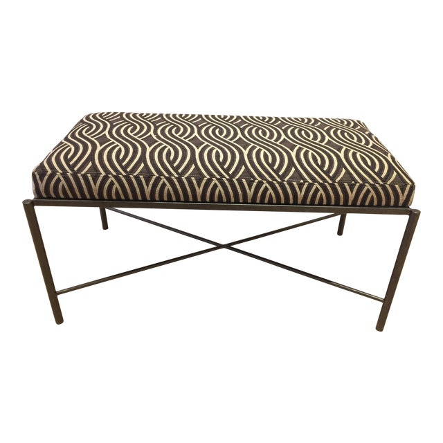 Serpentine Jacquard Upholstery Bench For Sale