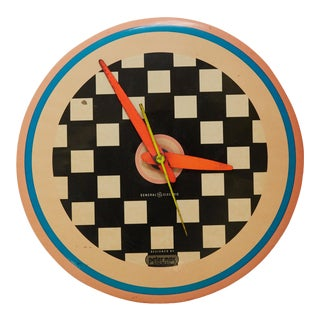 Vintage 1960s Peter Max Wall Clock For Sale