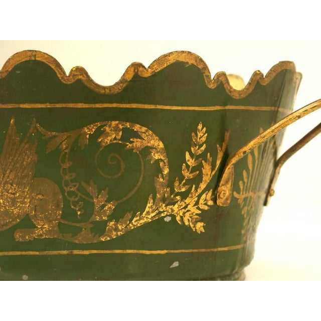 French Tole Jardinière C. 1800s For Sale In Chicago - Image 6 of 9