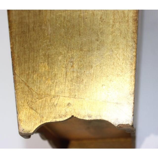 Gold Mid-Century Florentine Giltwood Wastebasket Gilt Wood For Sale - Image 8 of 11