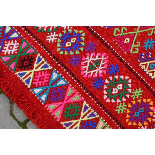 Modern Colorful Area Rug - 5′6″ × 6′12″ For Sale - Image 9 of 9