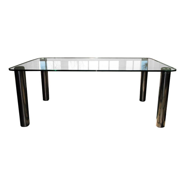 Marco Zanuso Vintage Italian Chrome Dining Table - Image 1 of 7