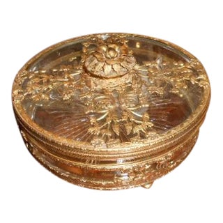 Antique Gold Ormolu Divided Dish For Sale