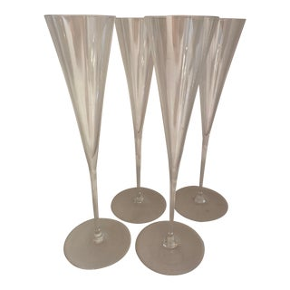 Vera Wang for Wedgewood Champagne Flutes - Set of 4 For Sale