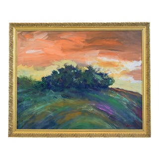 Juan Pepe Guzman, Ojai Landscape Sunset Oil Painting For Sale