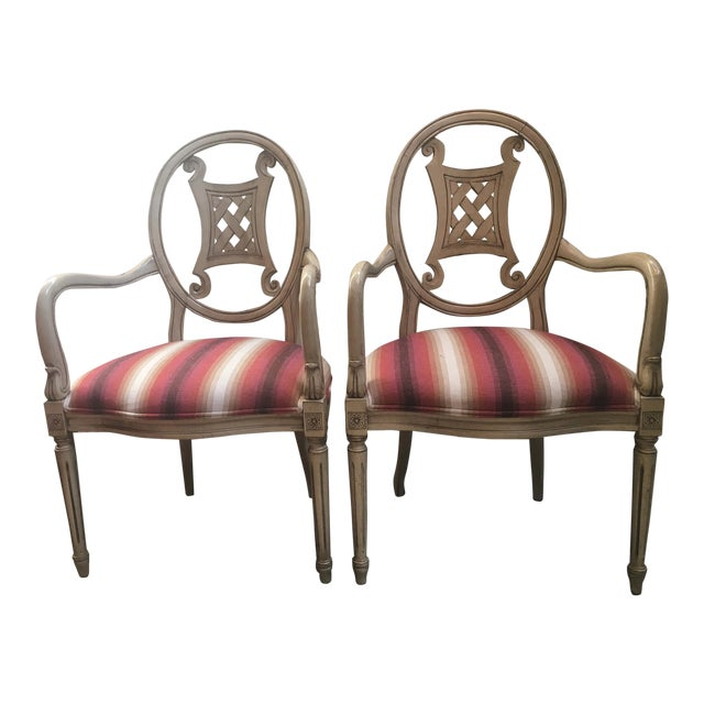 Upholstered Gustavian Chairs - A Pair For Sale
